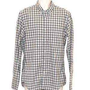 J.CREW Slim Gingham Long Sleeve Shirt M